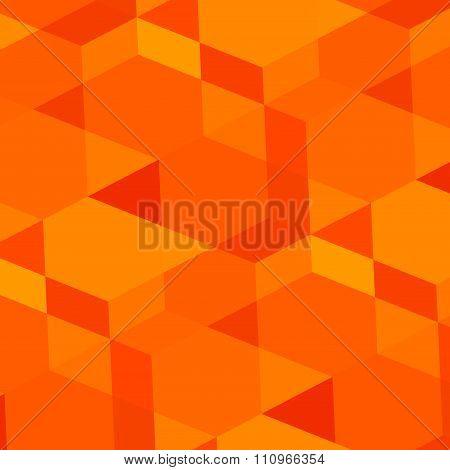 Abstract geometric orange background. Modern digital art. Made in full frame. Weird virtual concept.