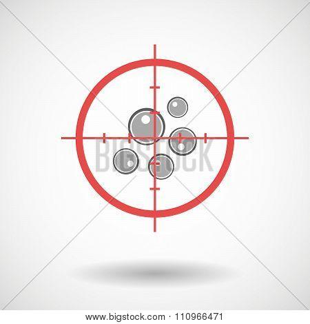 Red Crosshair Icon Targeting Oocytes
