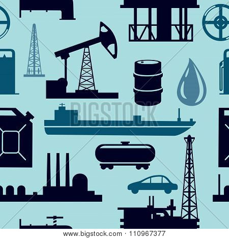 Oil industry seamless pattern.