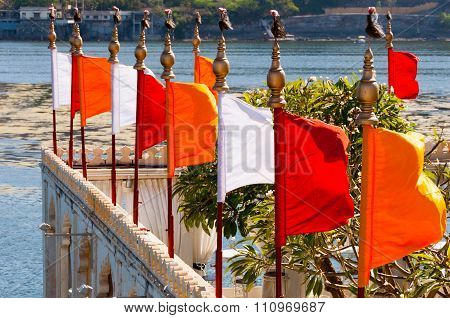 Flags Mandir Palace, Udaipur, India.