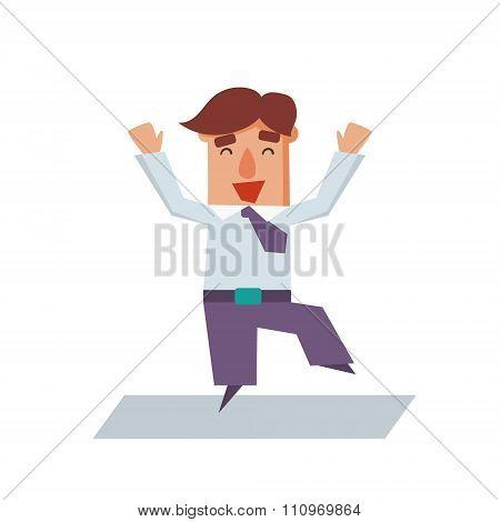 Business man cartoon character flat vector