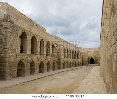 A Courtyard At An Old Citadel In Alexandria