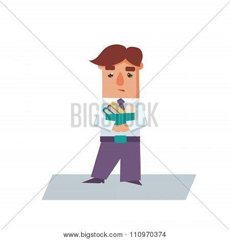 Upset Business Man Cartoon Character Vector Illustration