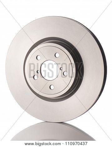 New car brake disk isolated on white background.