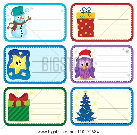 Christmas name tags collection 2 - eps10 vector illustration.
