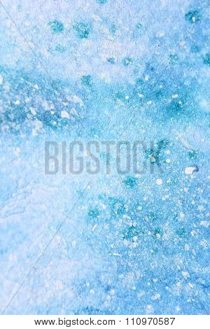 Snow Watercolor on Blue Background 4