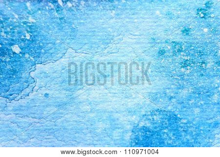 Snow Watercolor on Blue Background 8