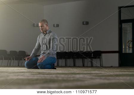 Muslim Praying In Mosque
