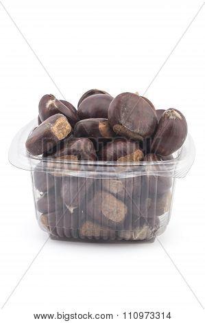 Ripe organic chestnuts