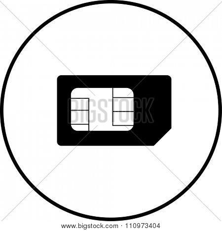 mini sim card symbol