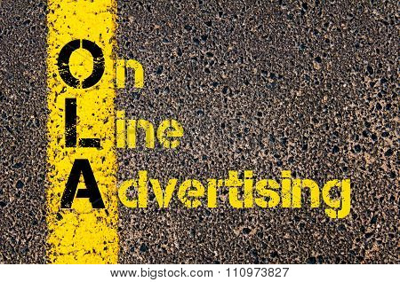 Advertising Business Acronym Ola On Line Advertising