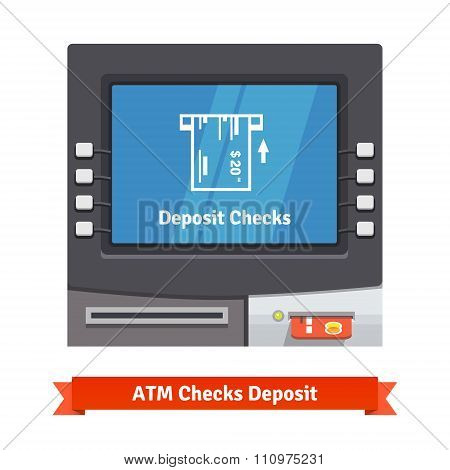 ATM teller machine with current operation