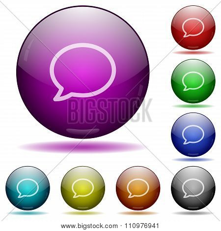 Comment Glass Sphere Buttons