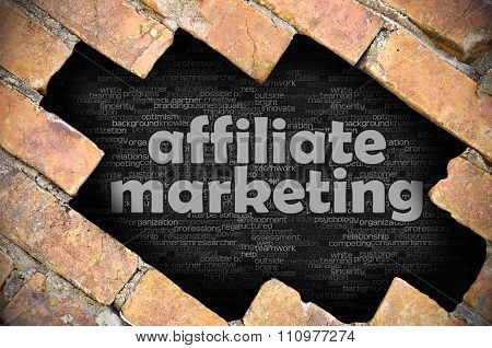 Hole In The Brick Wall With Word Affiliate Marketing