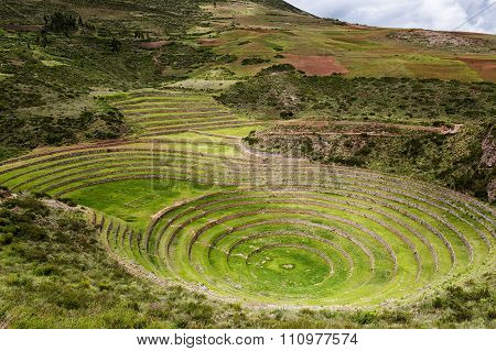 Moray Inca Ruins in the Sacred Valley, Peru
