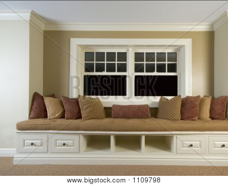 Custom Built In Bench