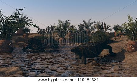 cotylorhynchus vs einiosaurus