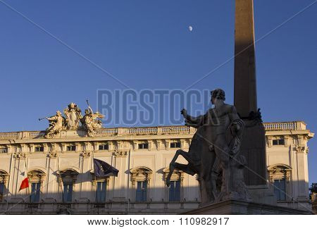 Obelisk Of Montecitorio In Rome