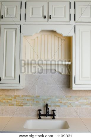 Custom Kitchen With Tile Work