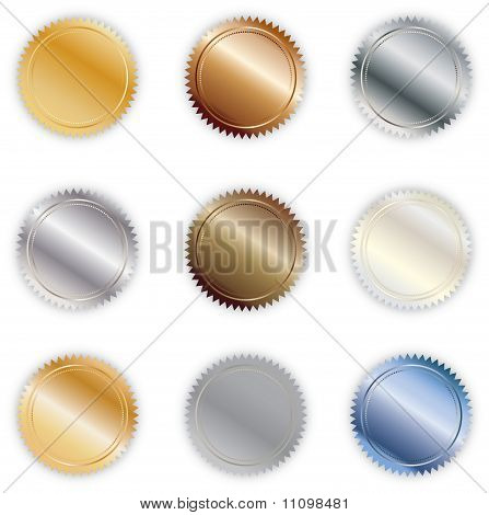 Set of Metallic Seals