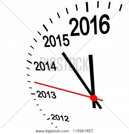 New Year 2016 Clock