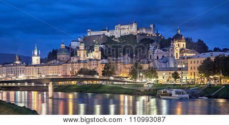 Evening Panorama Of Salzburg