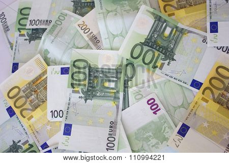 Money background. Euros