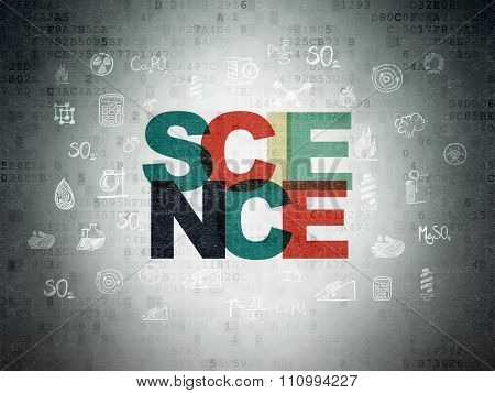 Science concept: Science on Digital Paper background