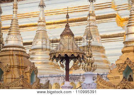 Asia Myanmar Yangon Shwedagon Pagoda