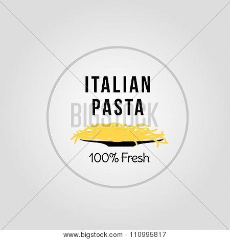 Fresh italian pasta icon