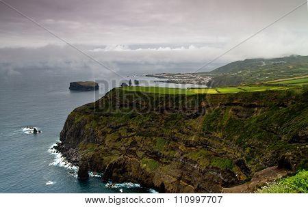 Cliff Near Mosterios In Azores Island Sao Migue