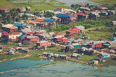 Floating village Phnom Krom, Siem Reap, Cambodia  poster