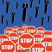Постер, плакат: Stop The Bombing Concept