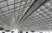 stock photo of charles de gaulle  - abstract roof in paris charles de gaulle airport - JPG