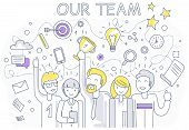 Постер, плакат: Our Success Team Linear Design
