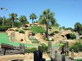 picture of miniature golf  - a big old putt putt golf course - JPG