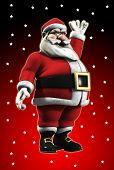 Image of waving santa for the christmas holiday period.