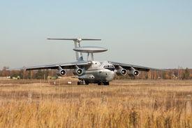 pic of awacs  - Military force air flying radar AWACS jet airplane - JPG