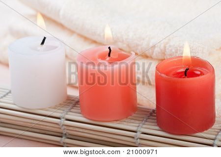 Red And White Candles