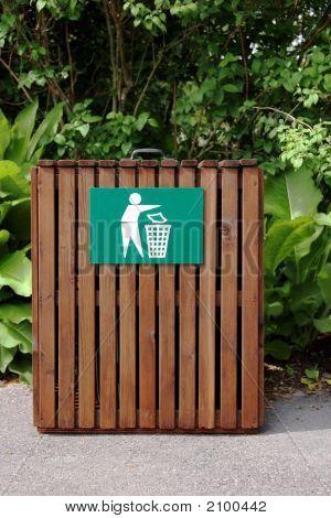 Wooden Litter Bin