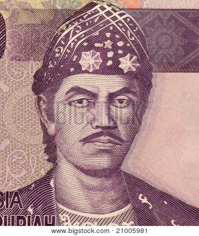 INDONESIA - CIRCA 2010: Sultan Mahmud Badaruddin Ii