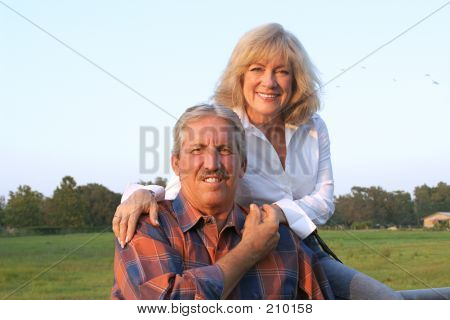 Farm Couple Relaxing