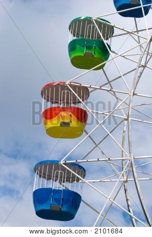 Colorful Ferris Wheel Carriages