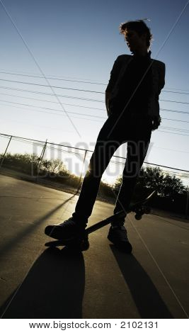 Teenage Skateboarder