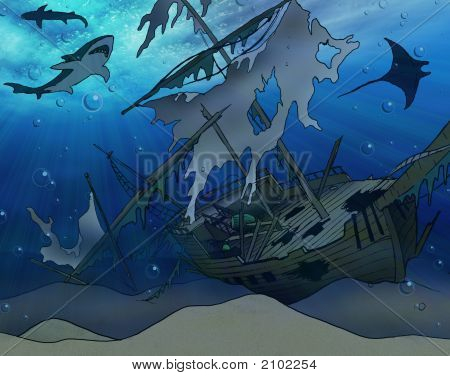 Shipwreck Illustration