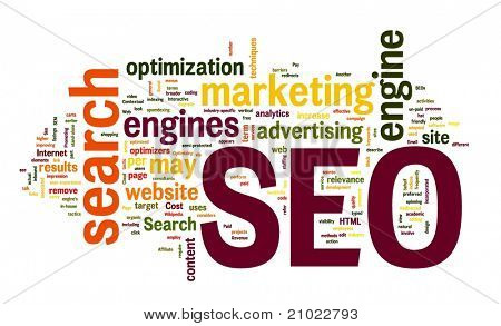 SEO - search engine optimization in word cloud