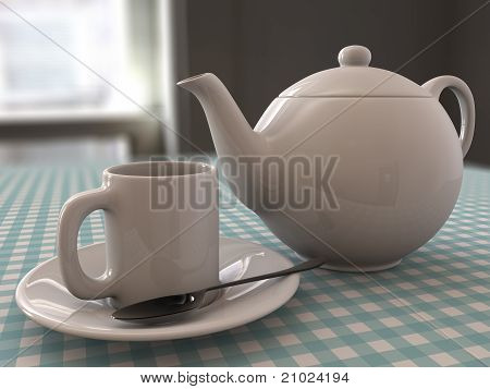 Tea and teapot