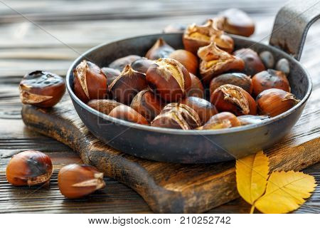 Roast Chestnuts In A Pan