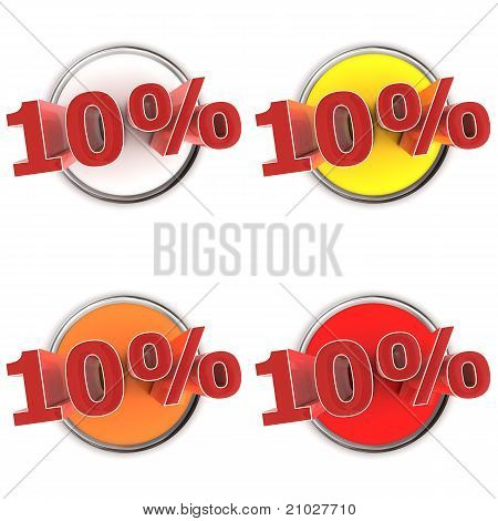 Discount Buttons - 10%