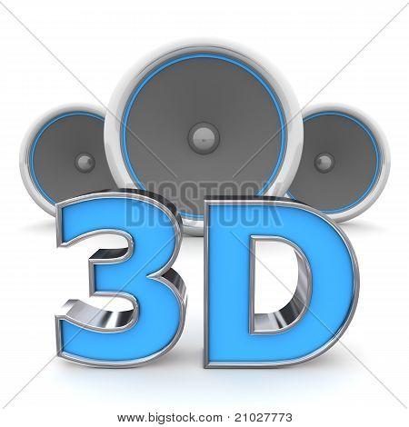 Speakers 3D - Orange